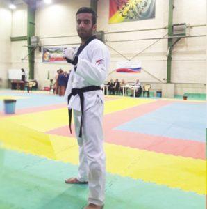 ابوالفضل حسینی عضو تیم ملی پاراتکواندو