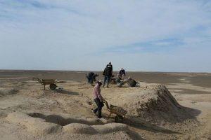 کشف آثار مربوط به دوره ساسانی در تپه کهریز نوشآباد