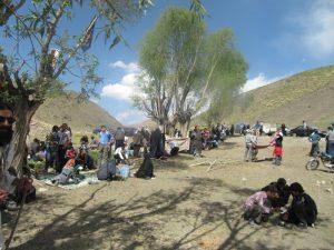 آیین بارانخواهی چشمه آبدرزاه روستای آزران