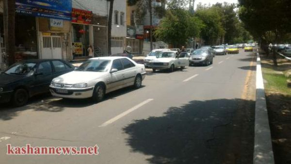 ترافیک در خیابان شهید رجایی کاشان