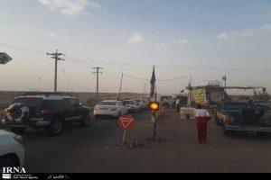 ورودی جاده کویر مرنجاب در آران و بیدگل