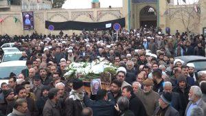 تشییع جنازه حاج شیخ محمدتقی مدنی