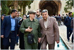 بازدید سرلشگر رحیم صفوی دستیار و مشاور عالی رهبری از باغ فین