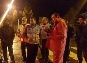 بازدید فرماندار کاشان از عملیات امدادی در شب بارانی ۵ و ۶ فرودینماه ۹۸
