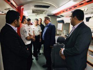 بازدید فرماندار کاشان در اورژانس مستقر در عوارضی کاشان