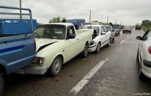 تصادف زنجیرهای در جاده