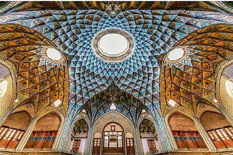 سقف تیمچه امینالدوله در بازار کاشان