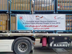 محموله کمکهای صلیب سرخ آلمان به سیلزدگان ایران