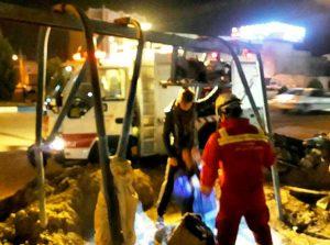 نجات کارگر گرفتار و محبوسی از عمق چاه توسط آتشنشانی کاشان