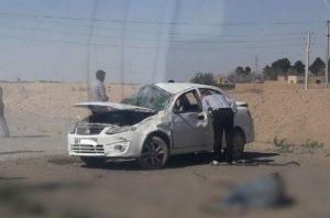 واژگونی خودرو ساینا در جاده نوشآباد با یک کشته