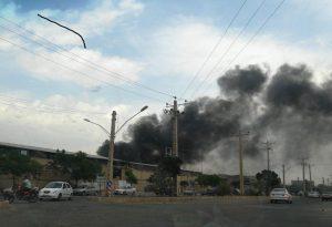 آتشسوزی در یک شرکت فرش ماشینی در شهرک صباحی بیدگلی