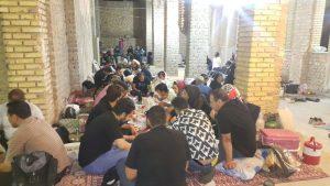 افطاری گروههای کوهنوردی در شاهسواران کاشان