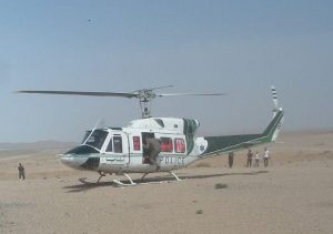 انتقال مصدوم واژونی خودرو با بالگرد ار مرنجاب به بیمارستان بهشتی قم