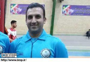 محمد قدیری داور والیبال کاشانی انتخاب شده برای رقابتهای والیبال ۹۸