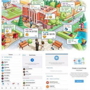 امکان چت با افراد نزدیک در یک مکان در تلگرام