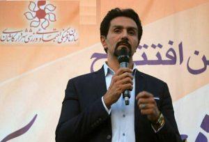 سعید ابریشمیراد شهردار کاشان در آیین گشایش سالن شهدای غواص لتحر