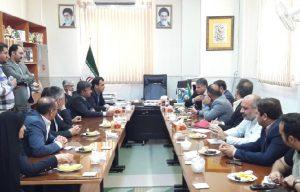 نشست رئیس دانشگاه فرهنگان کشور در فرمانداری آران و بیدگل