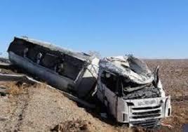 یک کشته بر اثر واژگونی کامیون کشنده