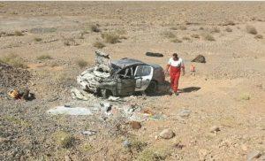 ۲ کشته و ۳ زخمی بر اثر واژگونی خودرو در آزادراه امیرکبیر