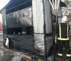 آتشسوزی در یک ایستگاه صلواتی ناایمن در خیابان امام کاشان