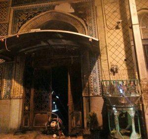 آتشسوزی در مسجدی در خیابان آیتالله سعیدی کاشان