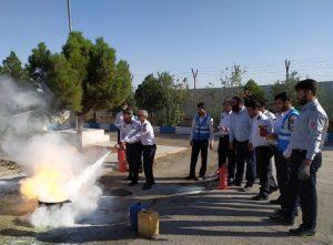 آموزش آتشنشانی برای کادر انتظامی پاسگاه کاشان - قم
