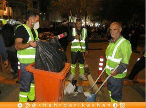 جمعآوری روزانه بیش از ۶ تن زباله از خیابان تربیت کربلا