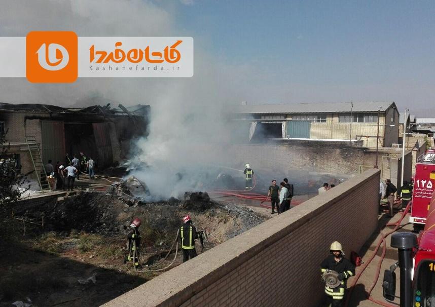 مهار آتشسوزی کارخانه الیاف