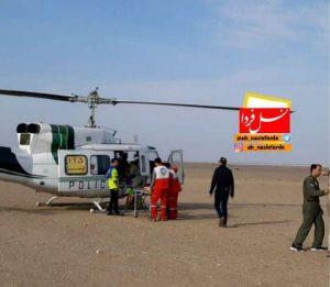 اعزام بالگرد از اورژانس قم برای انتقال گردشگران مسموم شده به بیمارستان