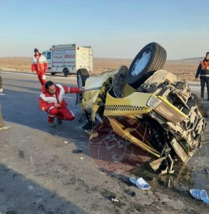 تصادف در جاده کاشان ـ نطنز یک کشته برجا گذاشت