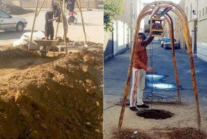 حفر و لایروبی ۱۱۳ چاه جاذب در منطق دو شهرداری کاشا