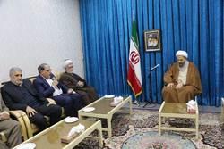 شکرالله بهرامی رئیس سازمان قضایی نیروهای مسلح در دیدار با نمازی امامجمعه کاشان
