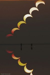 عکس مجید قهرودی از خورشیدگرفتگی ۵ دیماه عکس روز ناساس