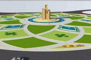 ماکت میدان حضرت معصومه در کاشان در حال ساخت