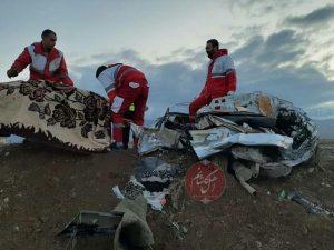 ۲ کشته و ۳ مصدوم در سانحه مرگبار آزادراه کاشان _نطنز