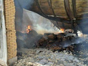 آتشسوزی در کارخانه کارتنسازی
