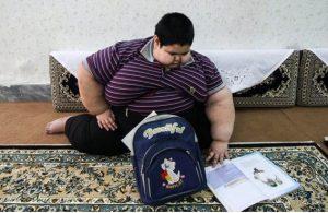 محسن پورمحمدی قمی چاقترین پسر ایرانی