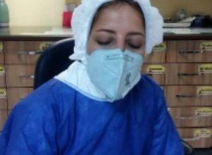 وجیهه خرمی پرستار در بیمارستان بهشتی کاشان