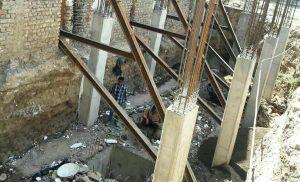 نجات کارگر ساختمانی سقوطکرده