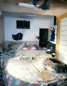 انفجار گاز و تخریب بخشهای از خانه در کاشان