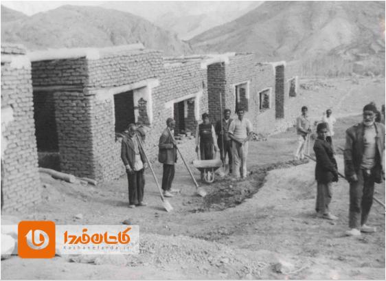 ساخت خانههای دولتی برای سیلزدگان برزک ۱۳۳۵