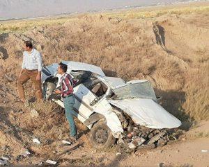 واژگونی خودرو پژو پارس در کاشان