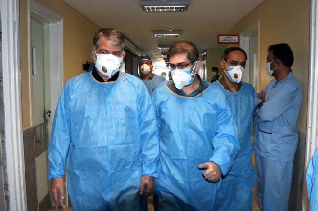 حضور ساداتینژاد در بیمارستان بهشتی