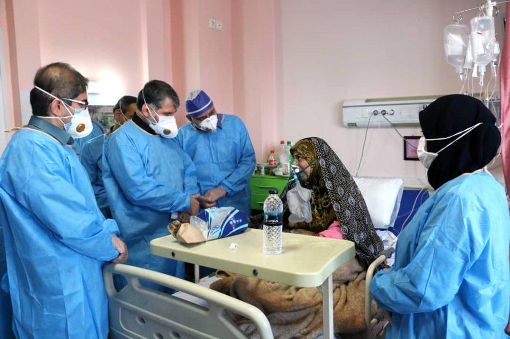 دیدار ساداتینژاد از بیماران کرونایی