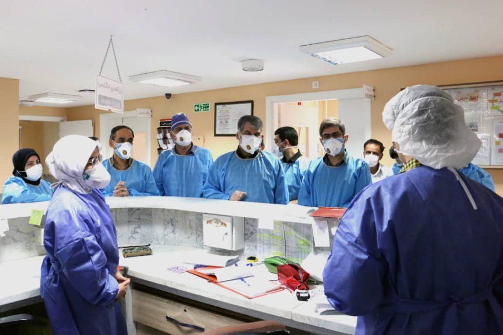 دیدار ساداتی از بیمارستان بهشتی