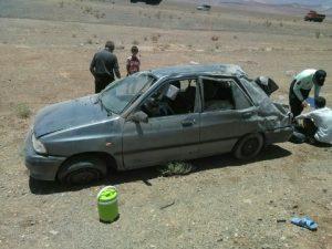واژگونی خودرو در محور کاشان بادرود یک کشته برجا گذاشت