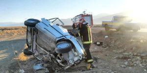 تصادف خودرو در کاشان ۲ فوتی برجای گذاشت
