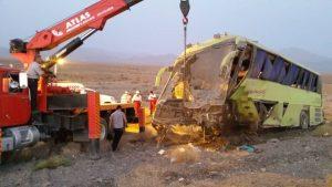 واژگونی اتوبوس تهران - یزد در بادرود یک کشته و ۳ مصدوم داشت