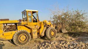 آزادسازی ۱۰ هکتار حریم رودخانه در جاده کاشان - قمصر