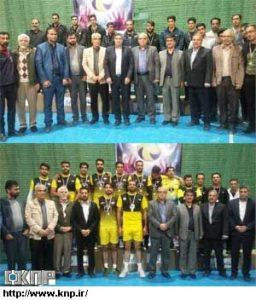 آیین پایانی والیبال روستایی استان اصفهان با قهرمانی لنجان و نایبقهرمانی کامو و چوگان